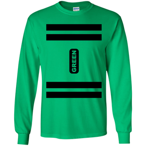 Green Crayon Costume Long Sleeve T-Shirt