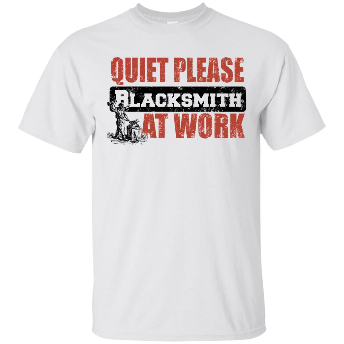Quiet Please Black Smith at Work T-Shirt