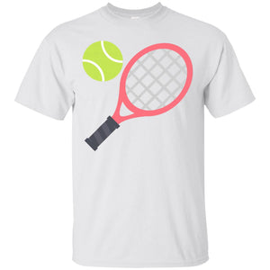 Tennis Racket and Ball Emoji T-Shirt