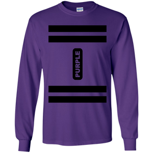 Purple Crayon Costume Long Sleeve T-Shirt
