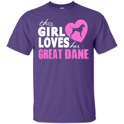 This Girl Loves Her Great Dane T-Shirt