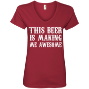 This Drink is Making me Awesome Shirt Ladies' V-Neck T-Shirt