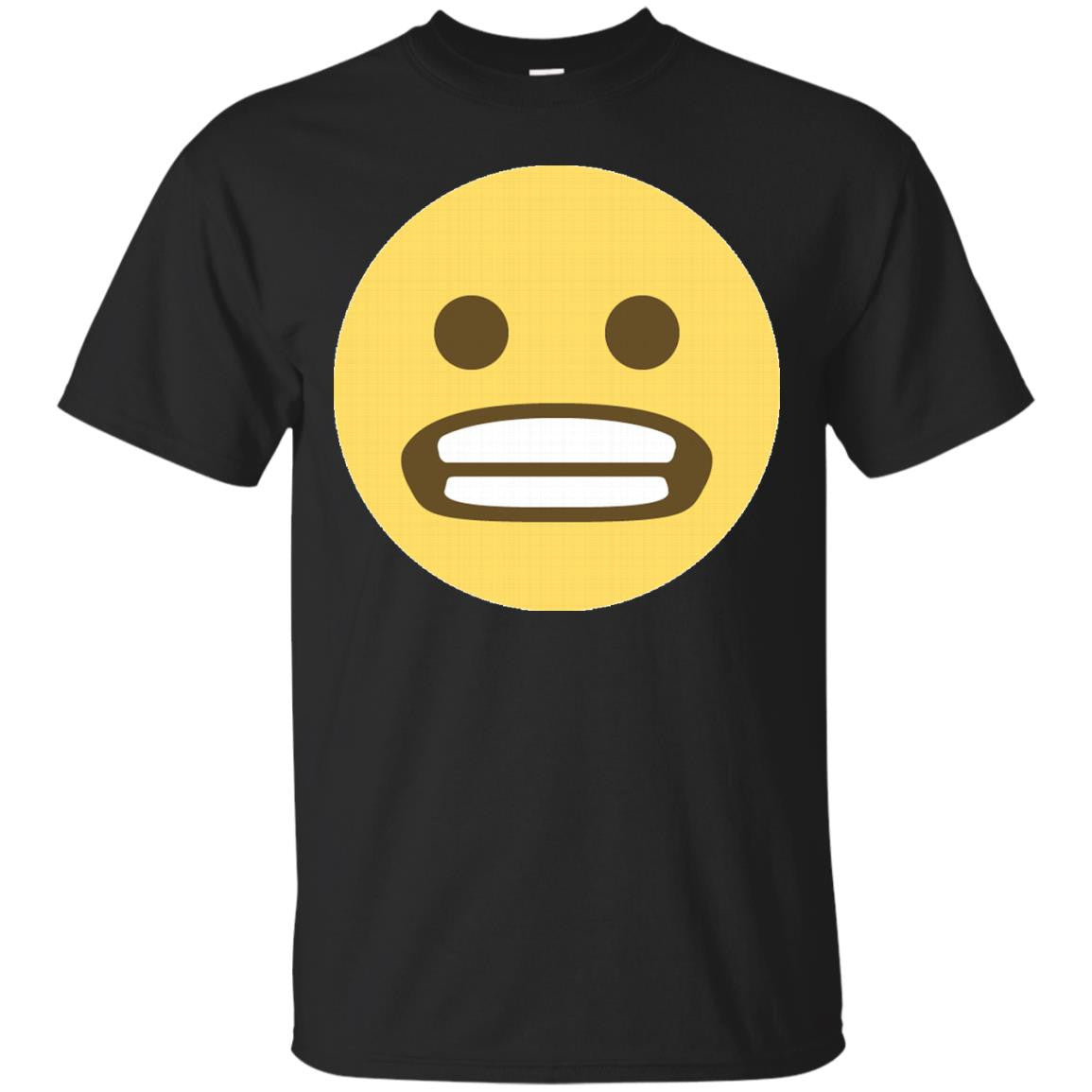 Smiling with Teeth Clenched Emoji Face T-Shirt