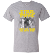 Star Paws Meow the force be with you Men's V-Neck T-Shirt