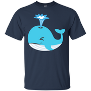 Whale Blow Hole Spray Emoji T-Shirt