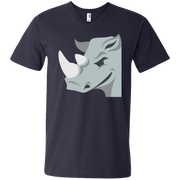 Rhino Emoji Men's V-Neck T-Shirt