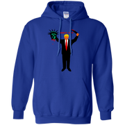 Trump Holding Statue of Liberty Head America First! Hoodie