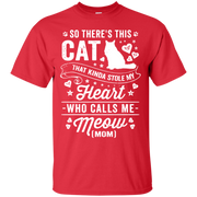 So There's This Cat That Kinda Stole my Heart who calls me Meow (MOM)_T Shirt_navy