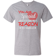 You are Special and you Give Me Reason To Smile Men's V-Neck T-Shirt