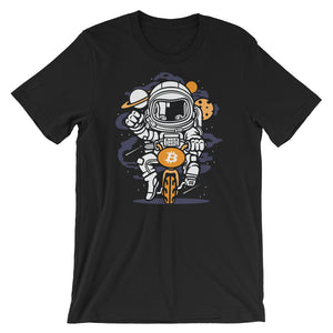 Riding Bitcoin to The Moon T-Shirt