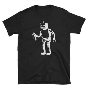 Banksy Spray Painting Robot T-Shirt