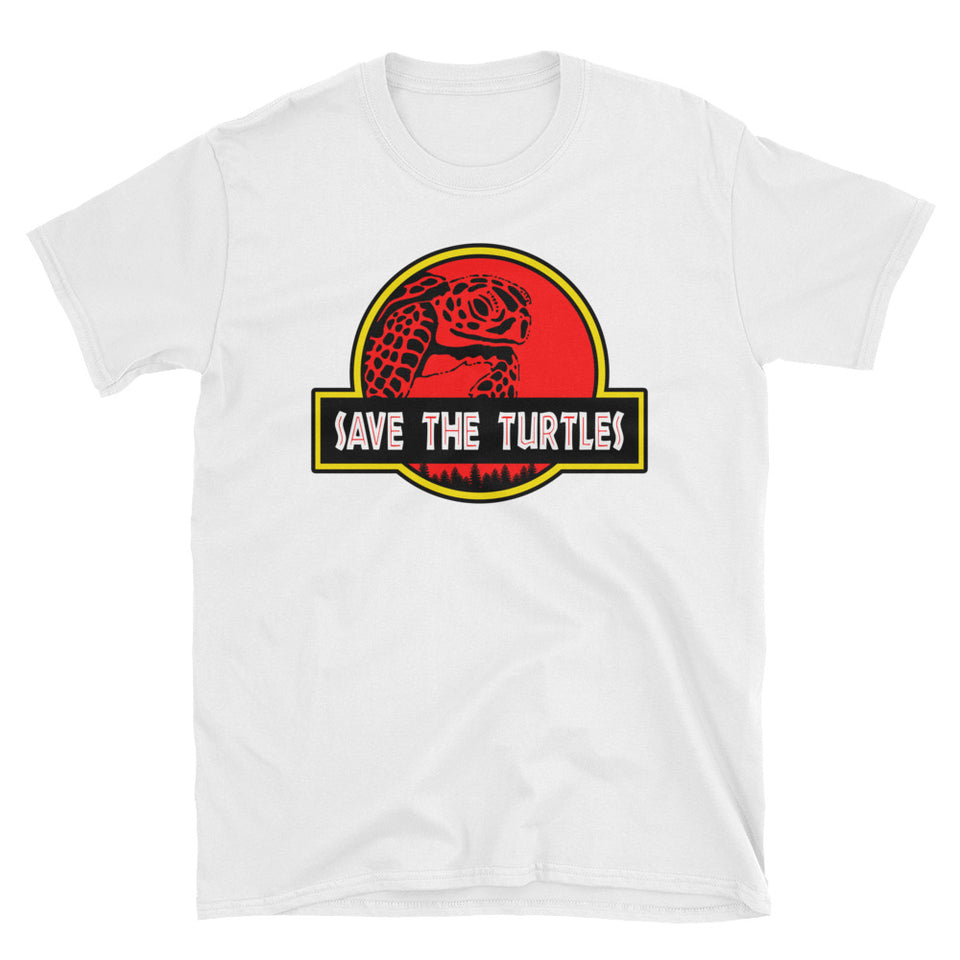 Save the Turtles Jurassic Parody T-Shirt