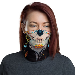 Day of the Dead Pretty Skull Pattern Face Mask Cover Gaiter