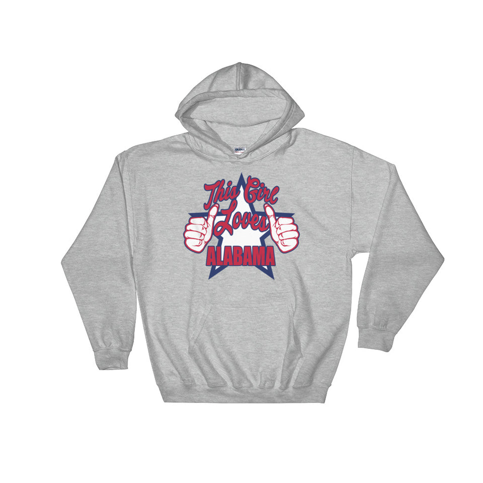 This Girl Loves Alabama Hoodie