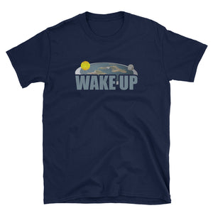 Flat Earth Society: Wake Up Flat Earth Map T-Shirt