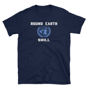 Round Earth Shill Flat Earth Map T-Shirt