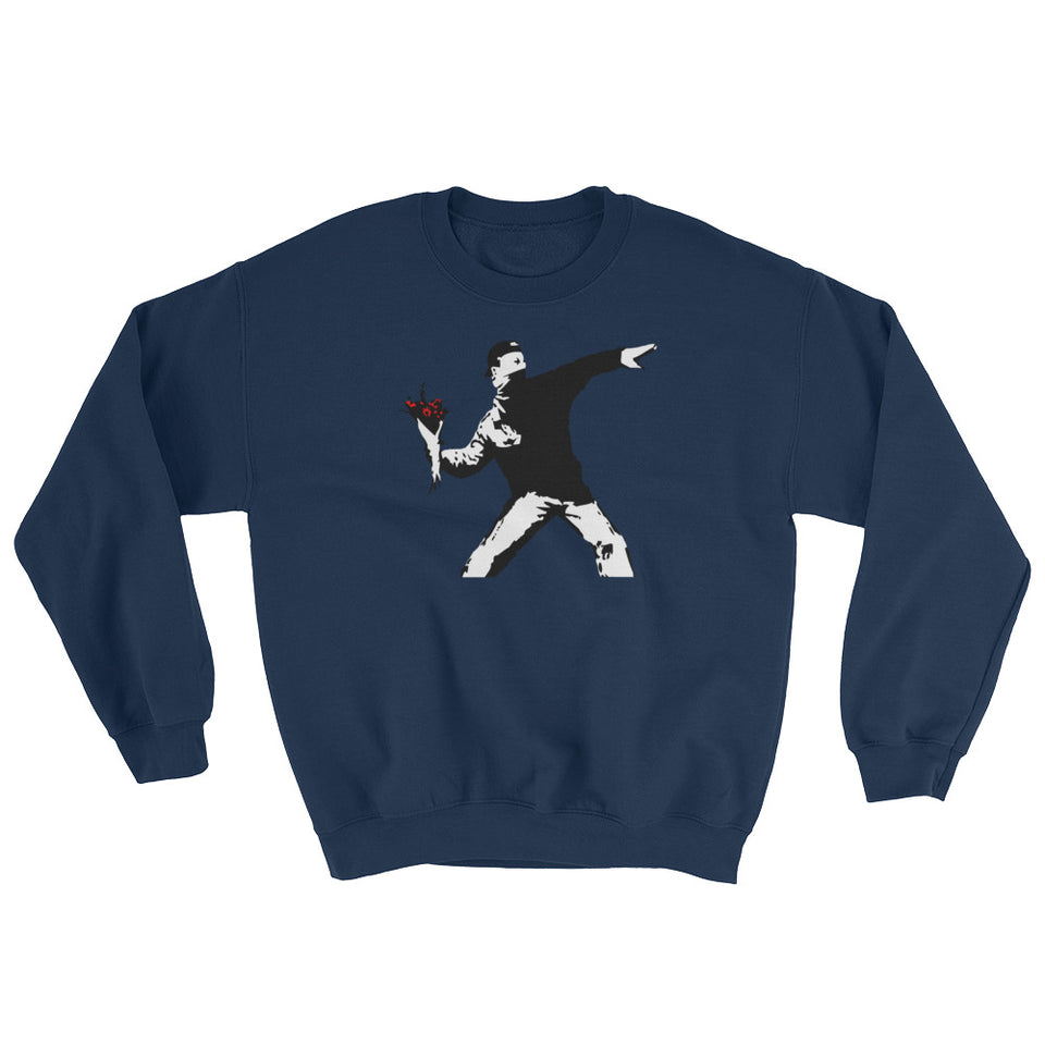 Banksy Flower Thrower Sweatshirt