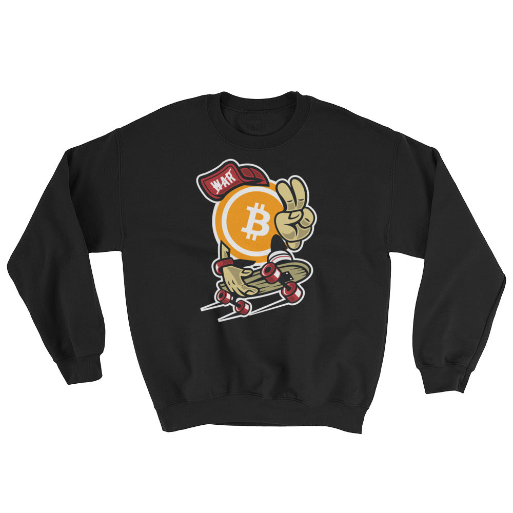 Peace & Bitcoin Not War Sweatshirt
