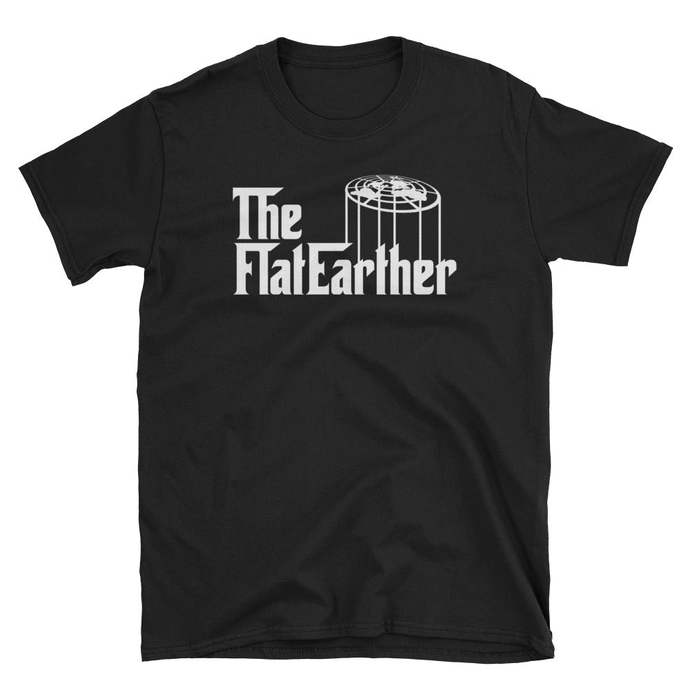 The Flat Earther! Flat Earth Godfather Parody T-Shirt