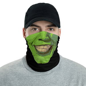Funny Green Face The Mask Parody Face Mask Cover Gaiter