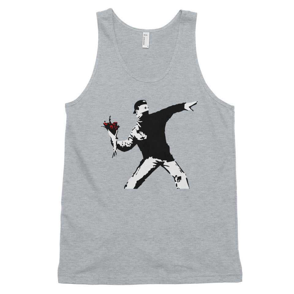 Banksy Flower Thrower Tank Top
