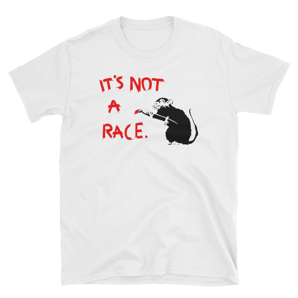 Banksy Rat It's Not a Race! T-Shirt
