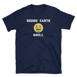Round Earth Shill Flat Earth Emoji Face T-Shirt