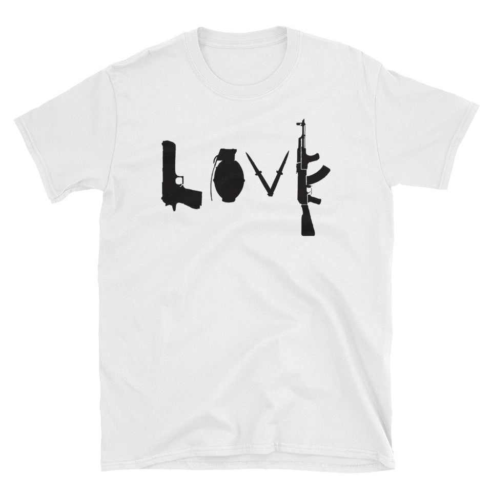 Love Guns Banksy Inspired T-Shirt