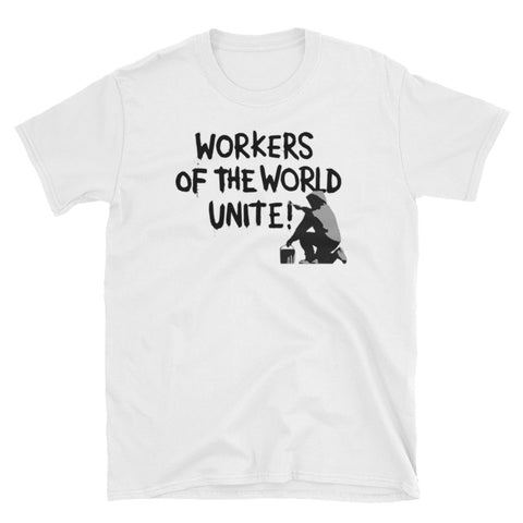 Workers Of The World Unite! Banksy Inspired T-Shirt