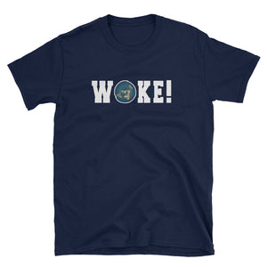 Woke Flat Earth T-Shirt
