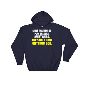 Girls That Like Baseball Are A Gift From God Hoodie