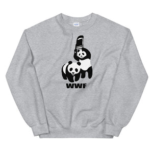 Banksy Panda Fighting WWF Parody Sweatshirt