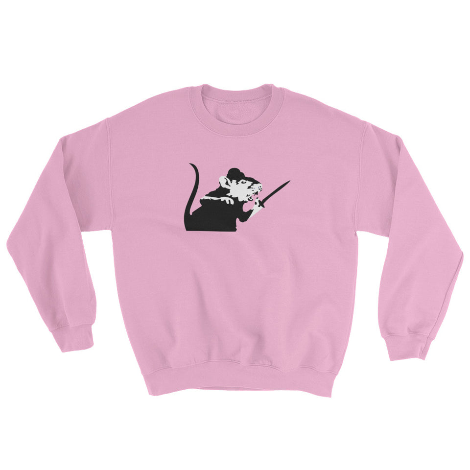 Banksy Rat With Sword Sweatshirt