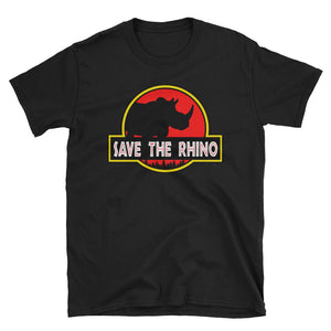 Save the Rhino Jurassic Parody T-Shirt
