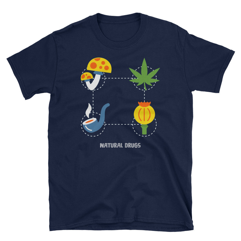 Pro Natural Drugs, Cannabis, Mushrooms, etc T-Shirt