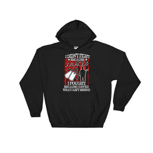I Fought Because I Loved What I Left Behind Hoodie