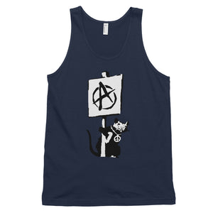 Banksy Anarchist Peace Rat Tank Top