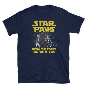 Star Paws Meow The Force Be With You! Star Parody T-Shirt