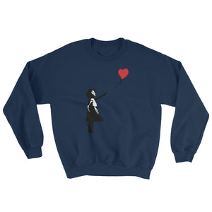 Banksy Letting Love Go Balloon Girl Sweatshirt