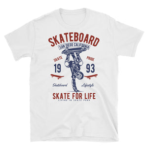 Skateboard Skate For Life Vintage Poster T-Shirt