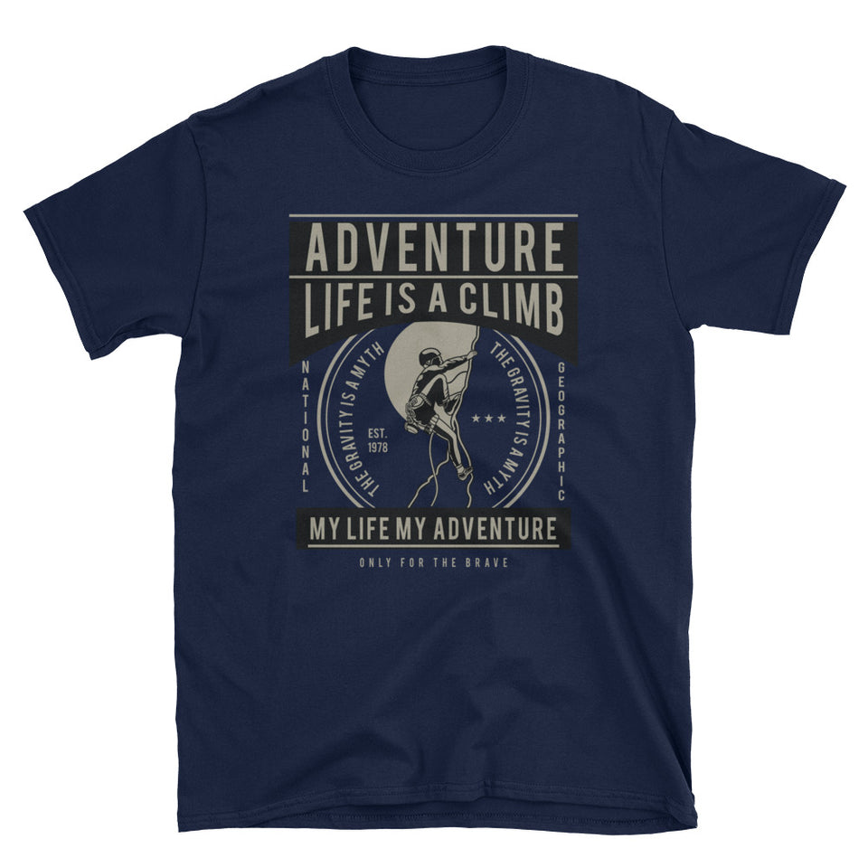 Adventure Life is a Climb! Vintage Climbing T-Shirt