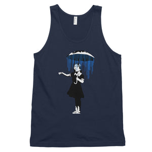 Banksy Girl Raining on The Inside Tank Top