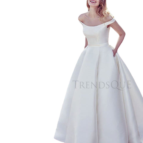BRIDAL BALL STYLE LONG LEATHER GOWN