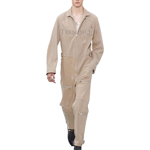 SUEDE LEATHER JUMPSUIT FOR MEN