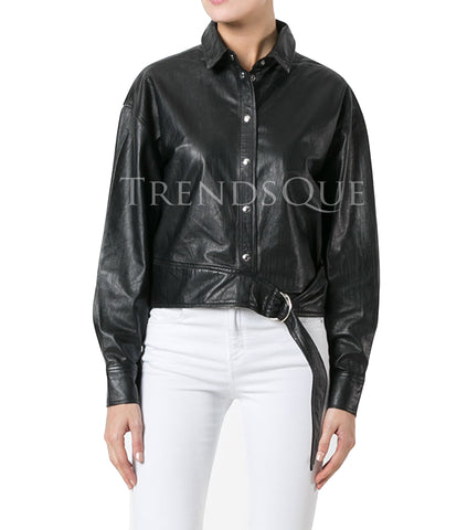 NEW STYLE WOMEN LEATHER SHIRT