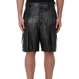 COOL STYLE LEATHER SHORTS FOR MEN