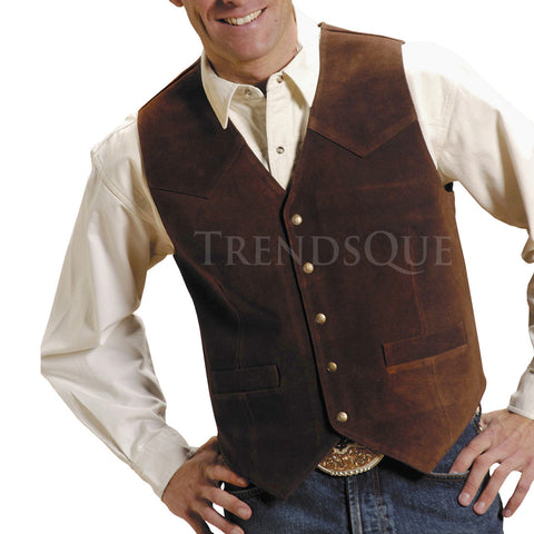 Suede Leather Vest For Men