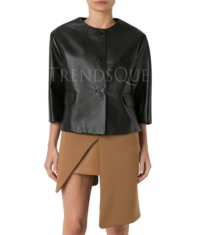 CLASSIC STYLE WOMEN LEATHER SHIRT
