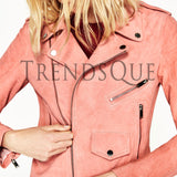 TRENDY SUEDE LEATHER JACKET