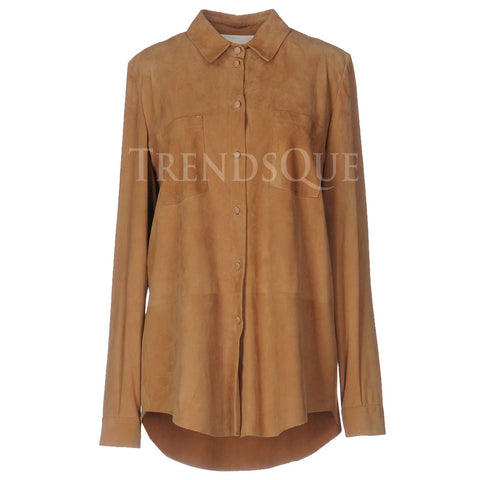 SUEDE LEATHER SHIRT FOR WOMEN